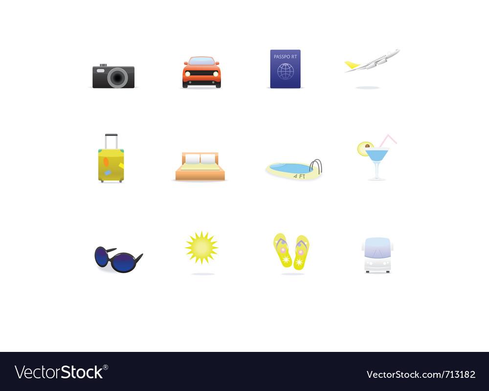 Travel icon set vector   Price: 1 Credit (USD $1)