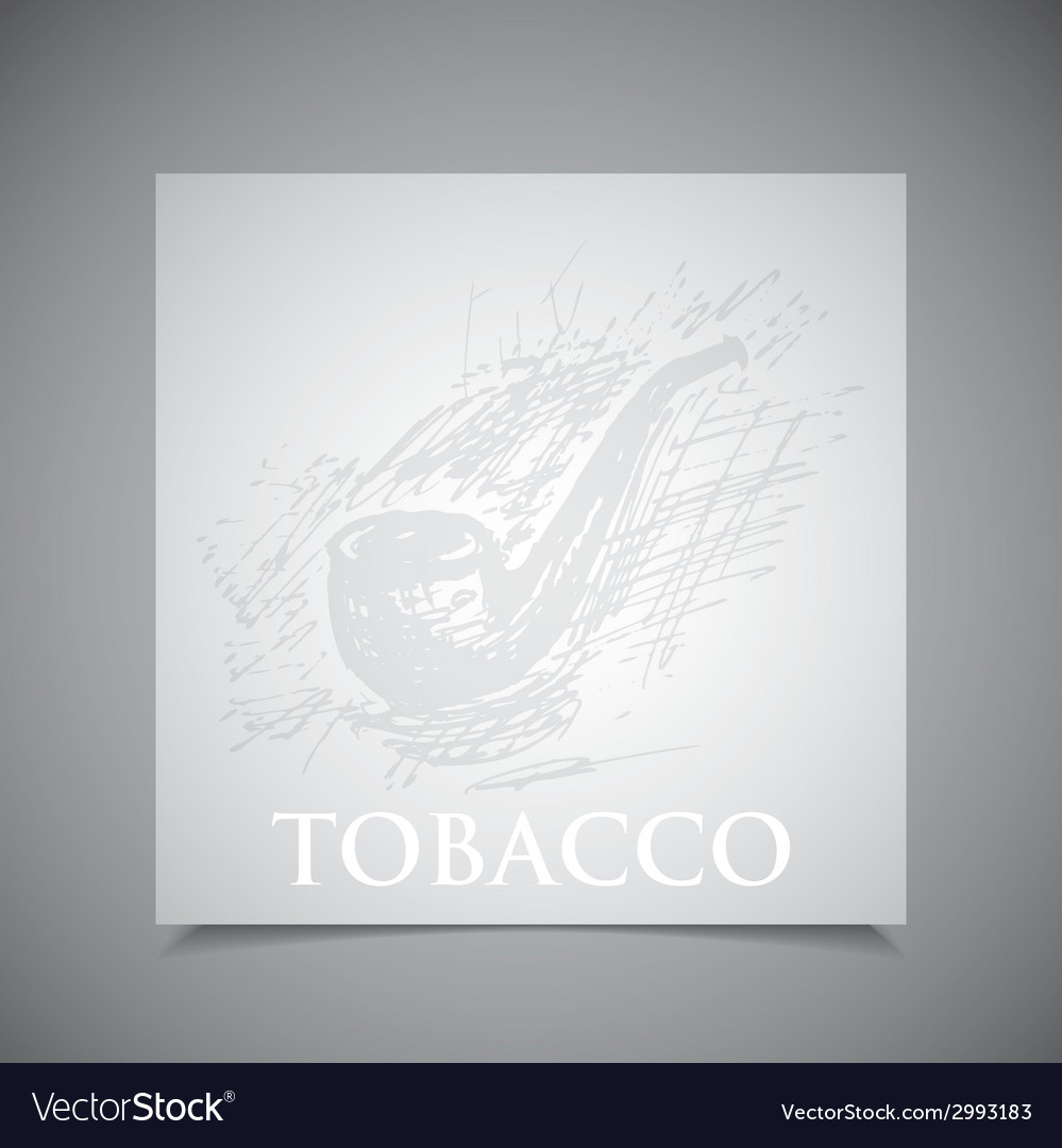 A hand-drawn tobacco pipe vector | Price: 1 Credit (USD $1)