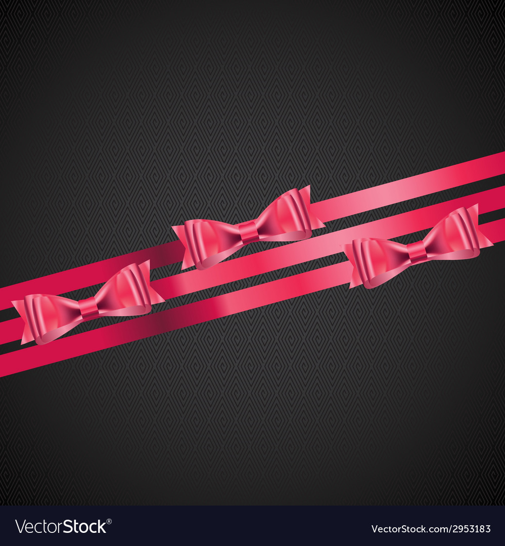Abstract background with red gift ribbon vector | Price: 1 Credit (USD $1)