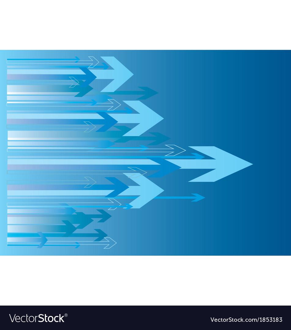 Blue arrows vector