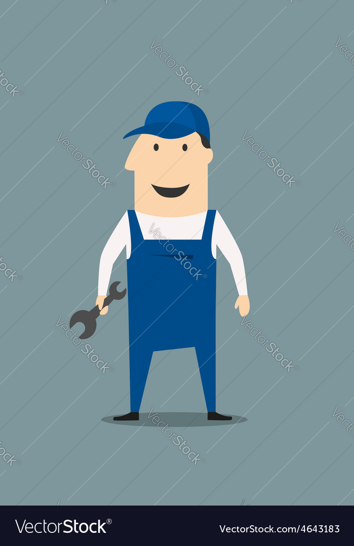 Cartoon mechanic or handy man vector