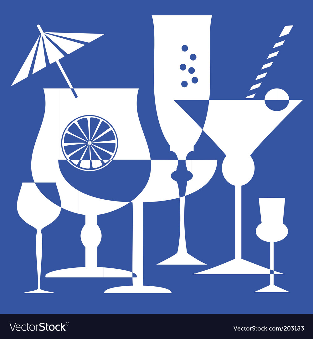 Drinking glasses vector | Price: 1 Credit (USD $1)