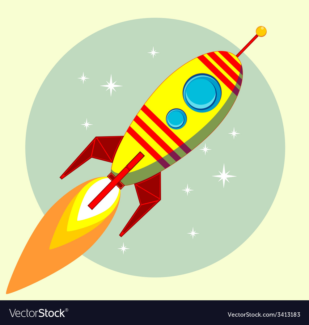 Flight of the space rocket vector | Price: 1 Credit (USD $1)