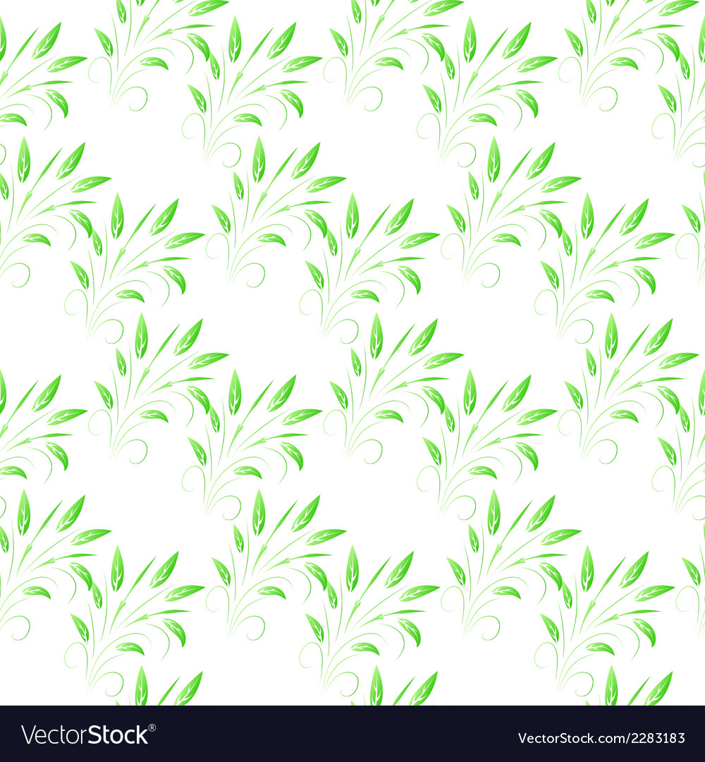Green leaves seamless background vector | Price: 1 Credit (USD $1)