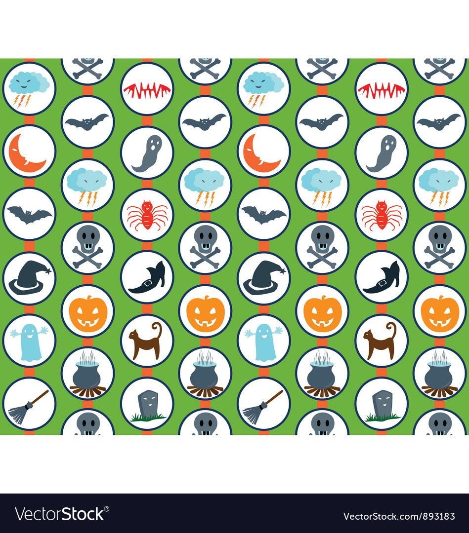Halloween set pattern vector | Price: 1 Credit (USD $1)
