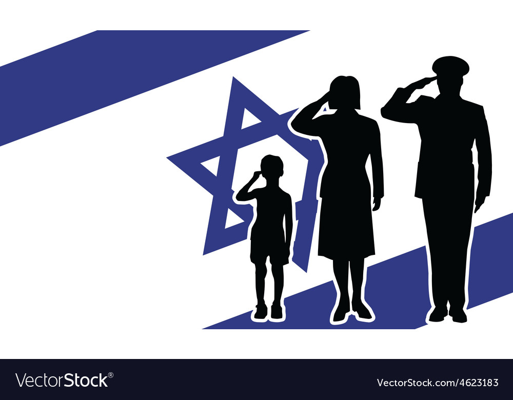 Israel soldier family salute vector | Price: 1 Credit (USD $1)