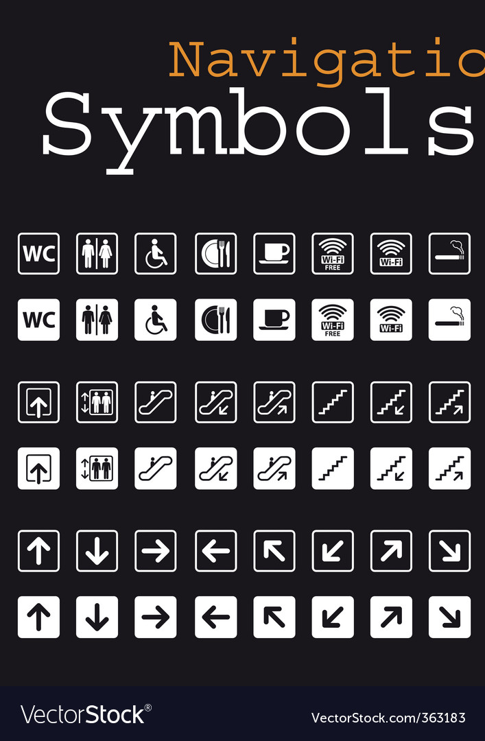 Navigation symbols vector | Price: 1 Credit (USD $1)