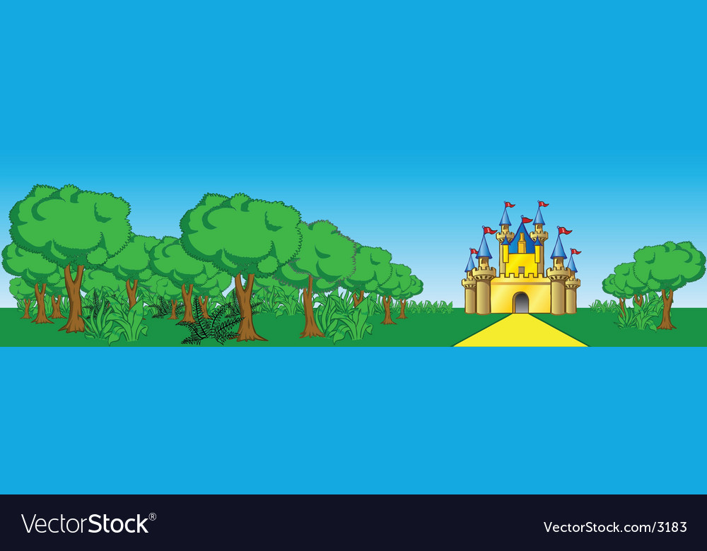 Palace scene vector | Price: 3 Credit (USD $3)