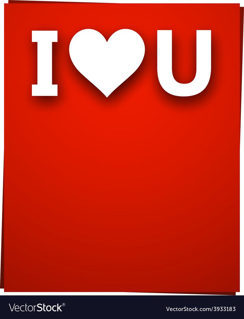 Paper love card vector | Price: 1 Credit (USD $1)