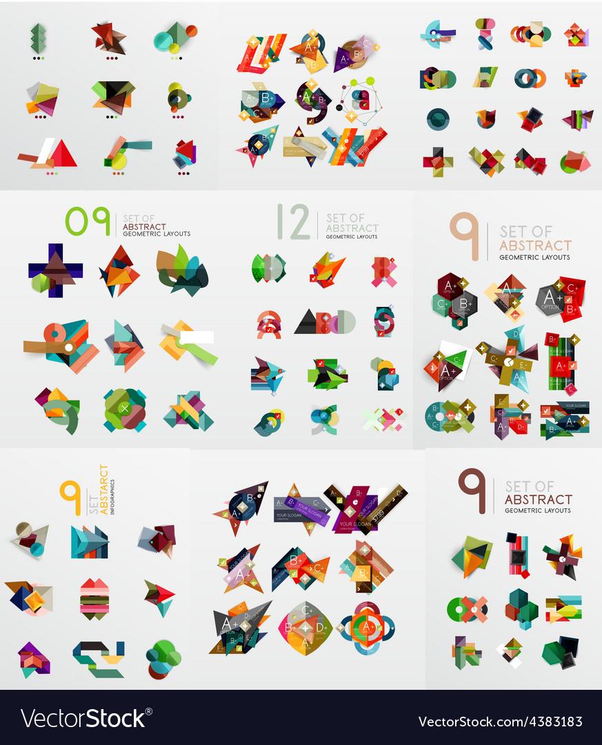 Set of paper graphics vector