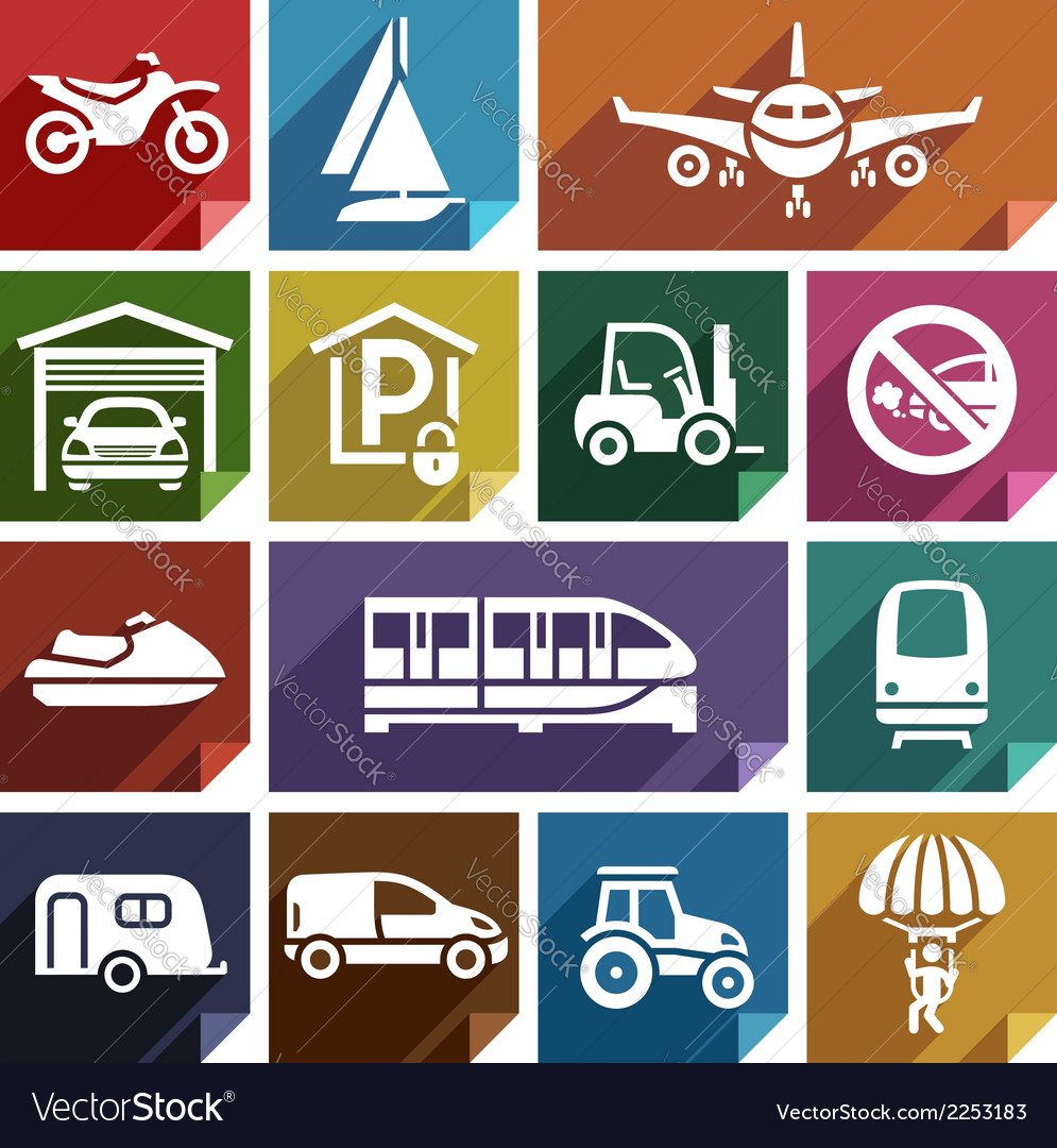 Transport flat icon-08 vector | Price: 1 Credit (USD $1)