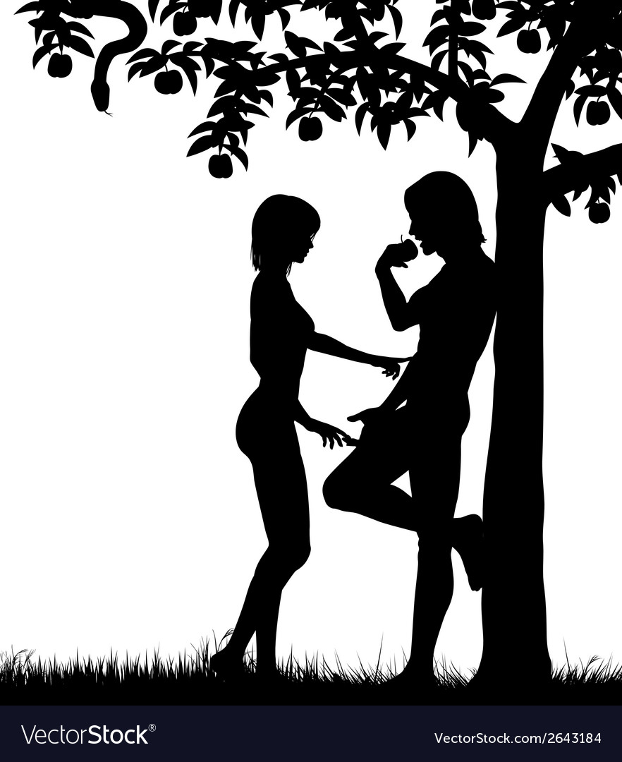 Adam and eve vector | Price: 1 Credit (USD $1)
