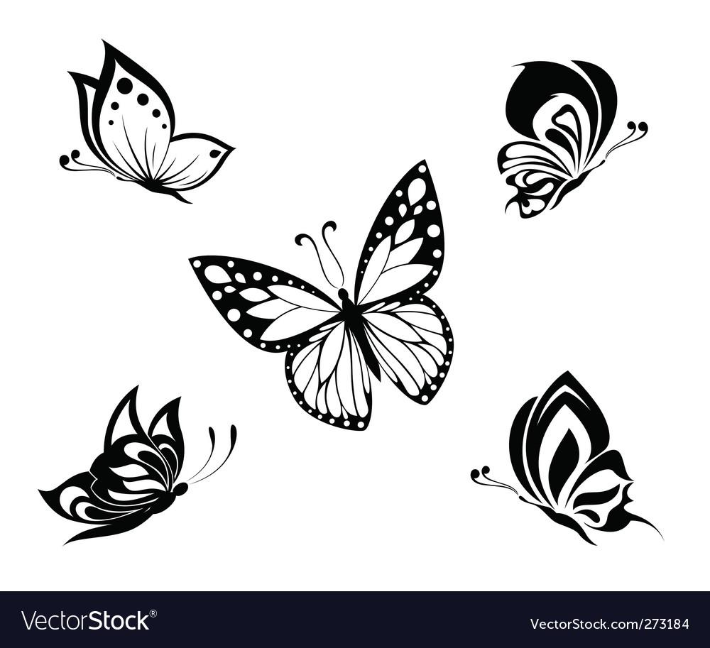 Butterflies tattoo vector | Price: 1 Credit (USD $1)