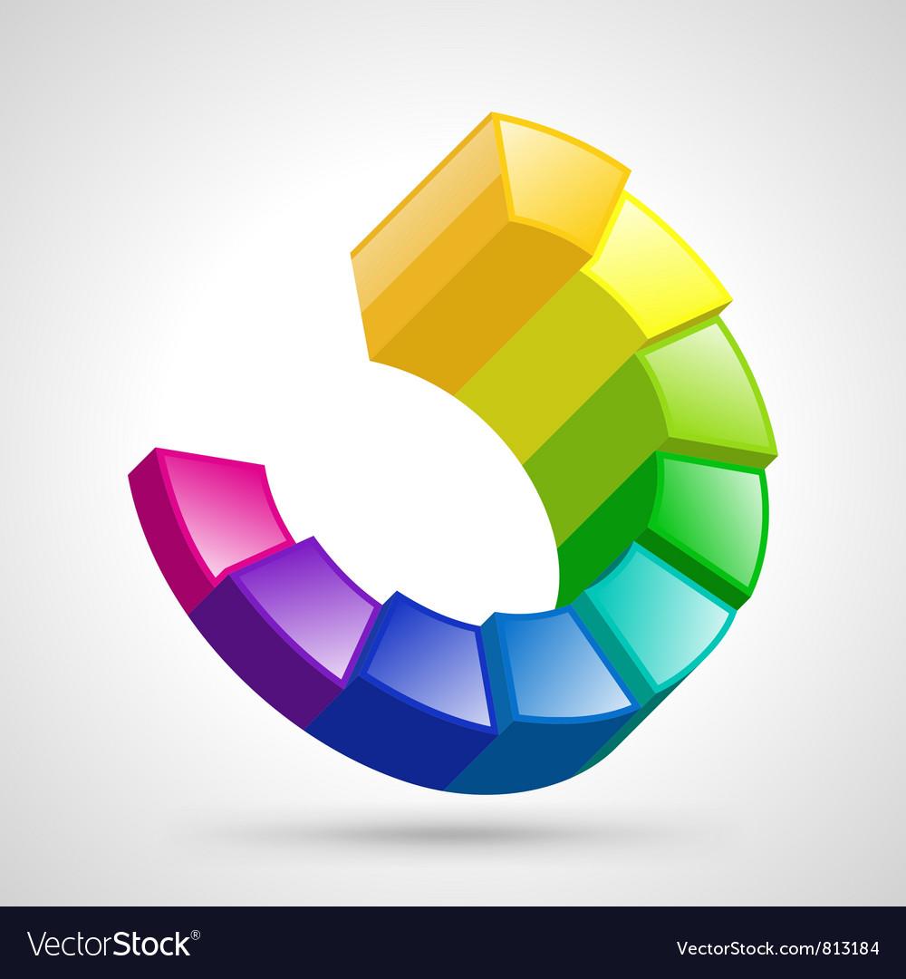 Circular diagram colorful vector | Price: 1 Credit (USD $1)