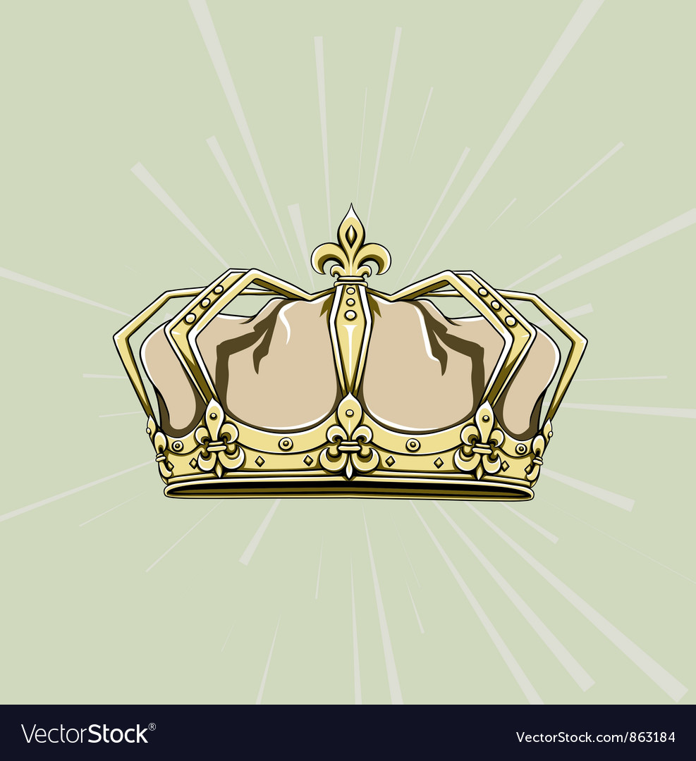 Crown with rays vector   Price: 1 Credit (USD $1)