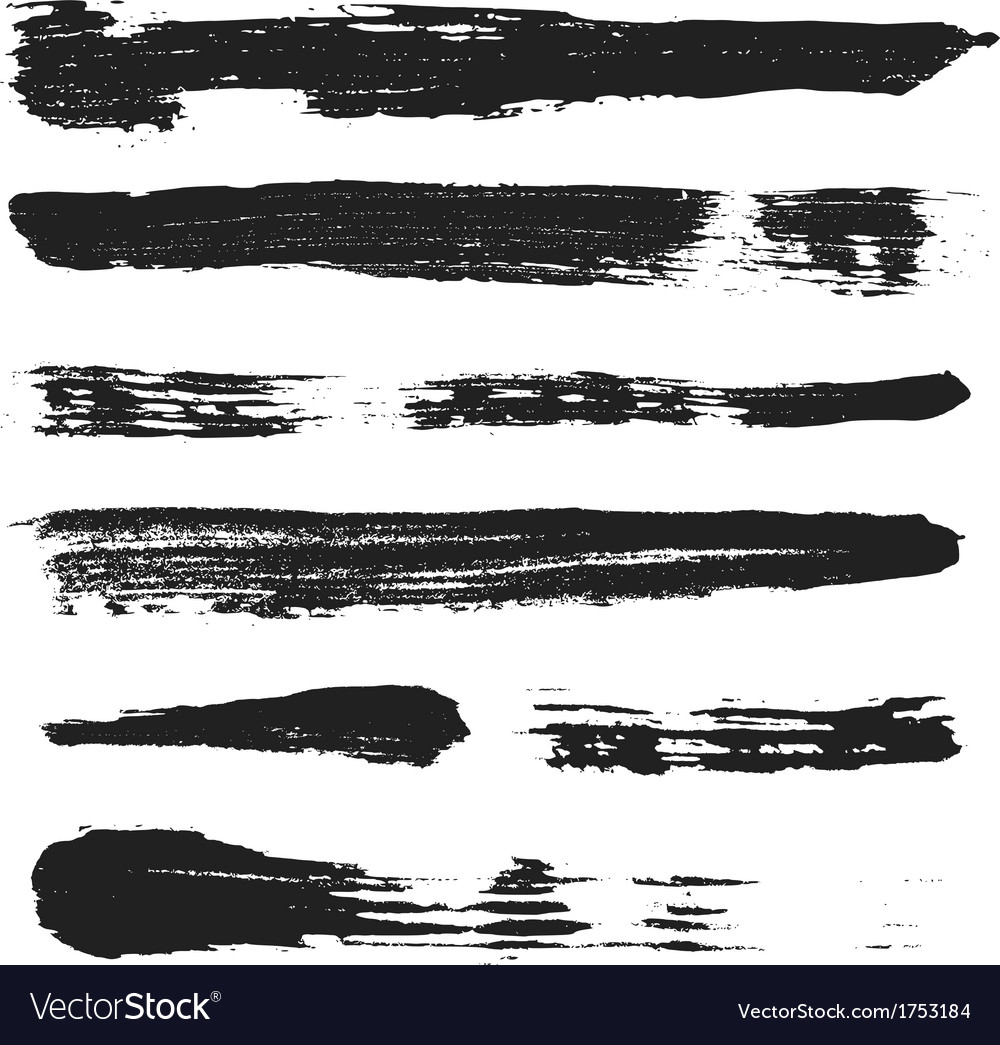 Grunge brushes set 3 vector | Price: 1 Credit (USD $1)