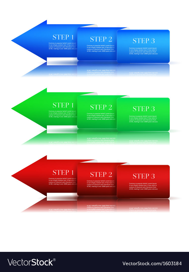 Next step arrow boxes vector | Price: 1 Credit (USD $1)