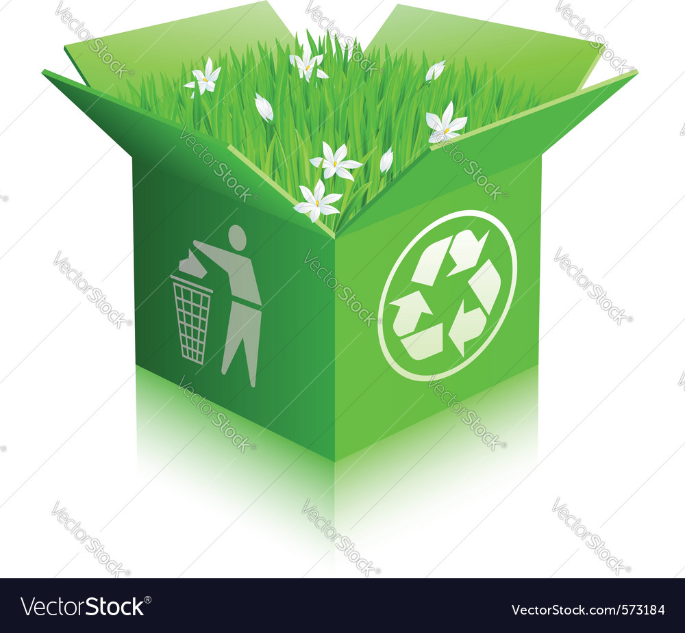 Recycle shipping box vector | Price: 1 Credit (USD $1)
