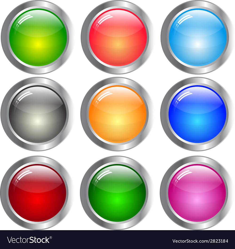 Round set of different color backdrops vector | Price: 1 Credit (USD $1)