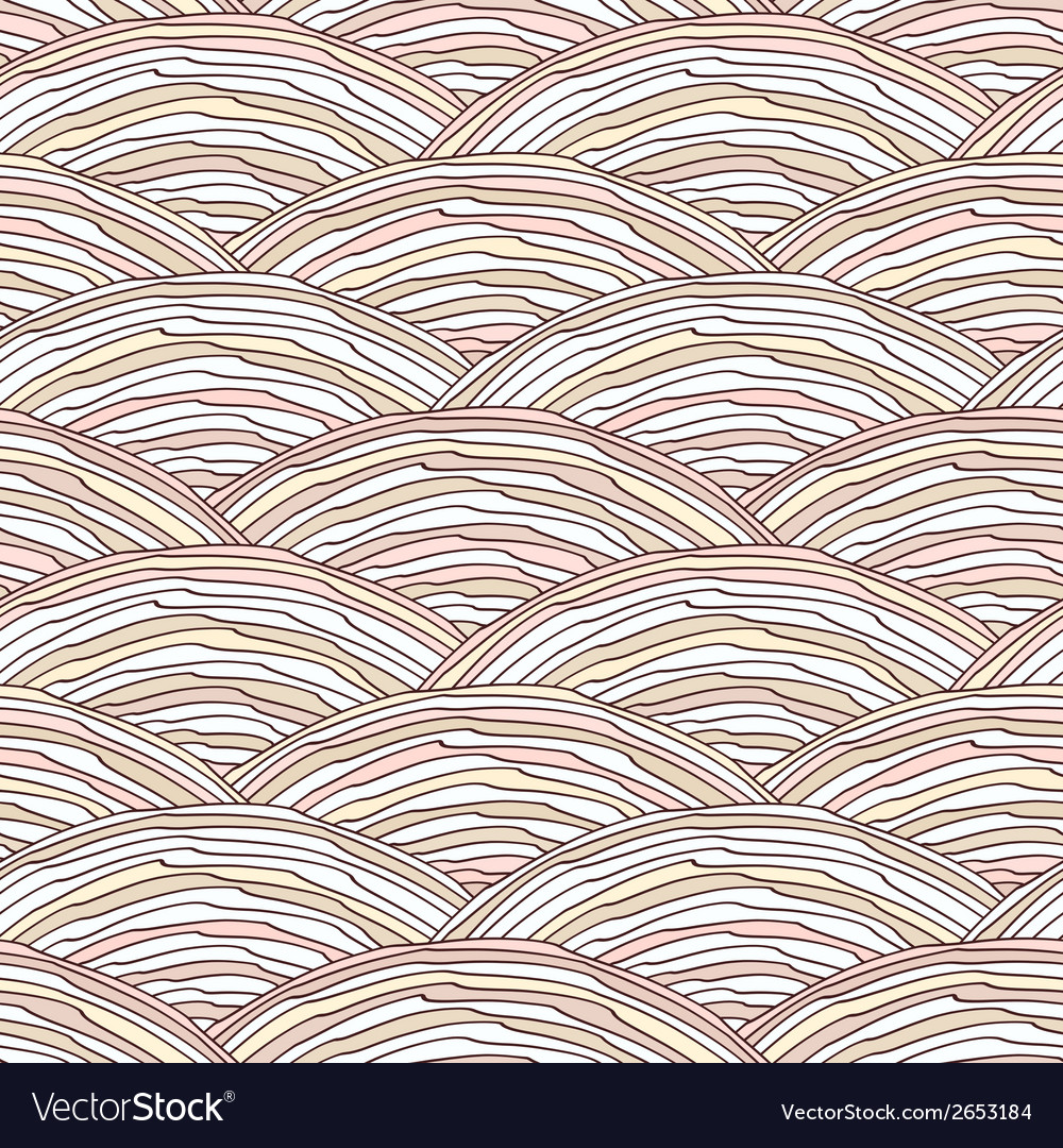 Seamless pattern with hand drawn wavy texture vector | Price: 1 Credit (USD $1)
