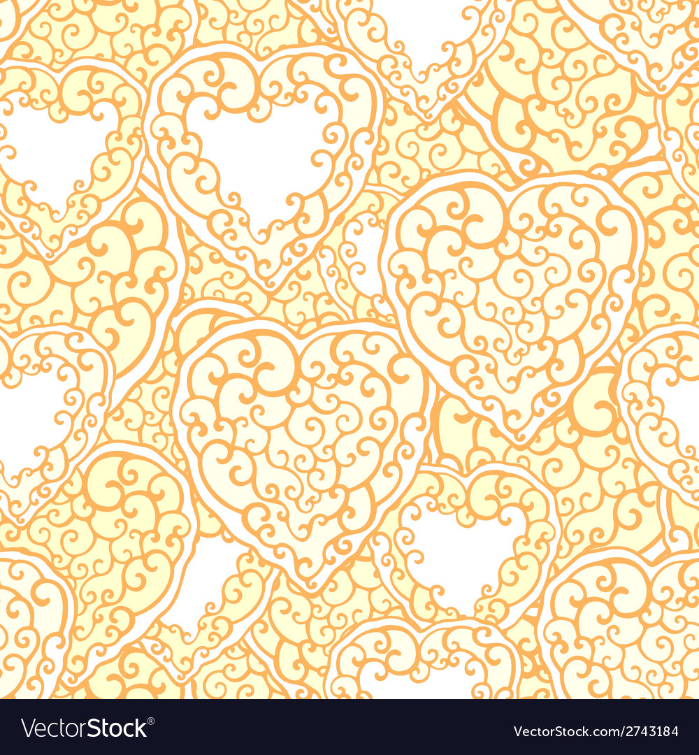 Seamless pattern with ornamental hand drawn doodle vector | Price: 1 Credit (USD $1)