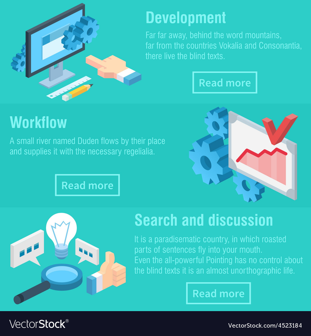 Work process workflow and discussion infographic vector | Price: 1 Credit (USD $1)
