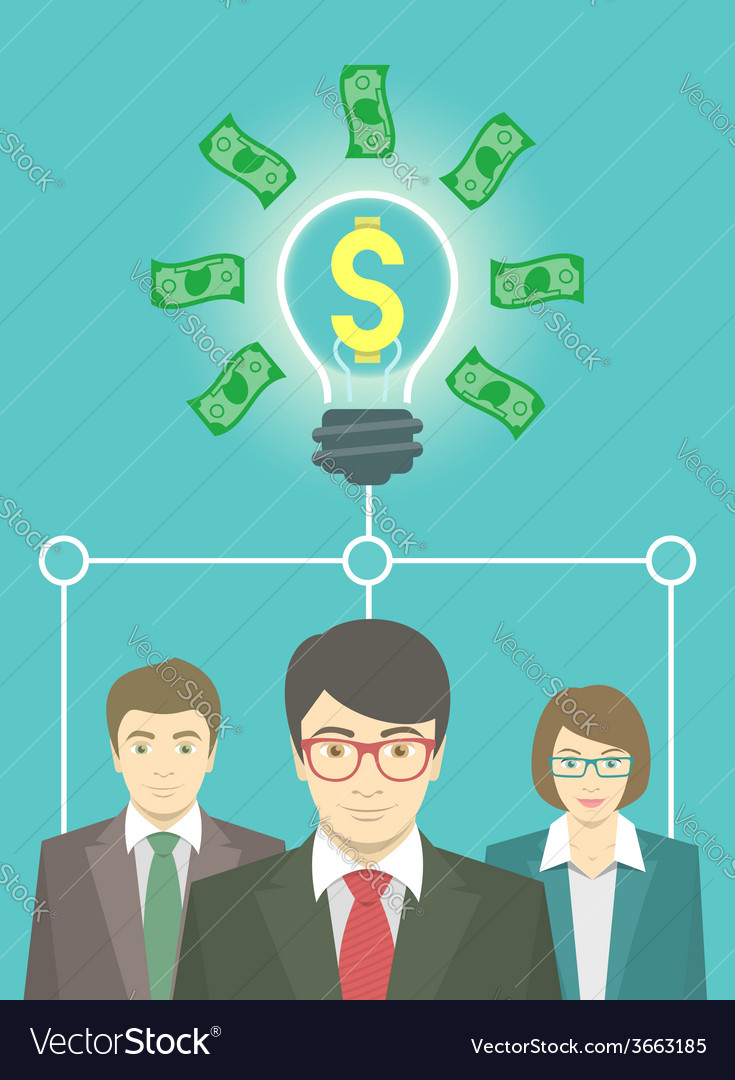 Business idea concept vector | Price: 1 Credit (USD $1)