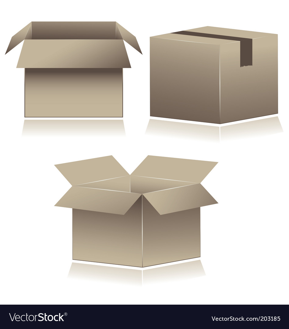 Cardboard shipping boxes vector | Price: 1 Credit (USD $1)