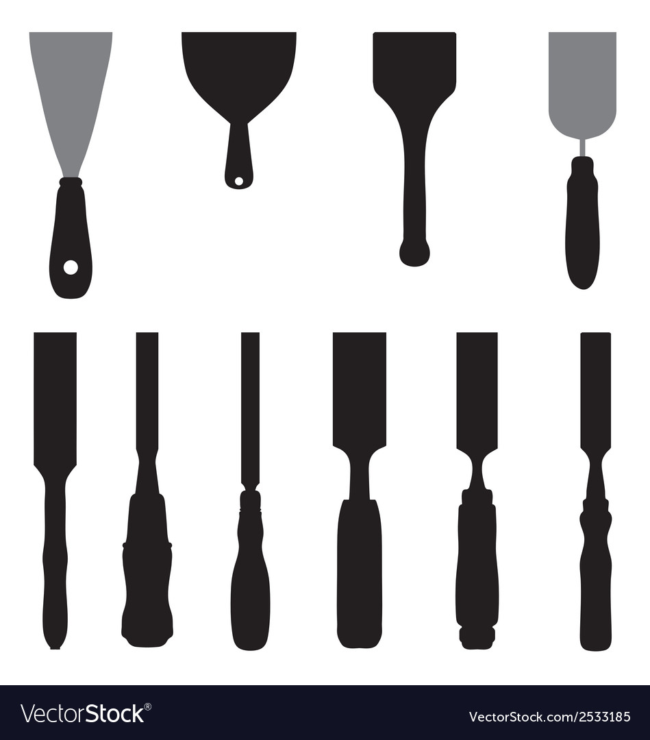 Chisels and spatula vector | Price: 1 Credit (USD $1)