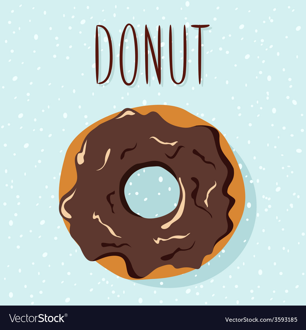 Chocolate donut vector | Price: 1 Credit (USD $1)