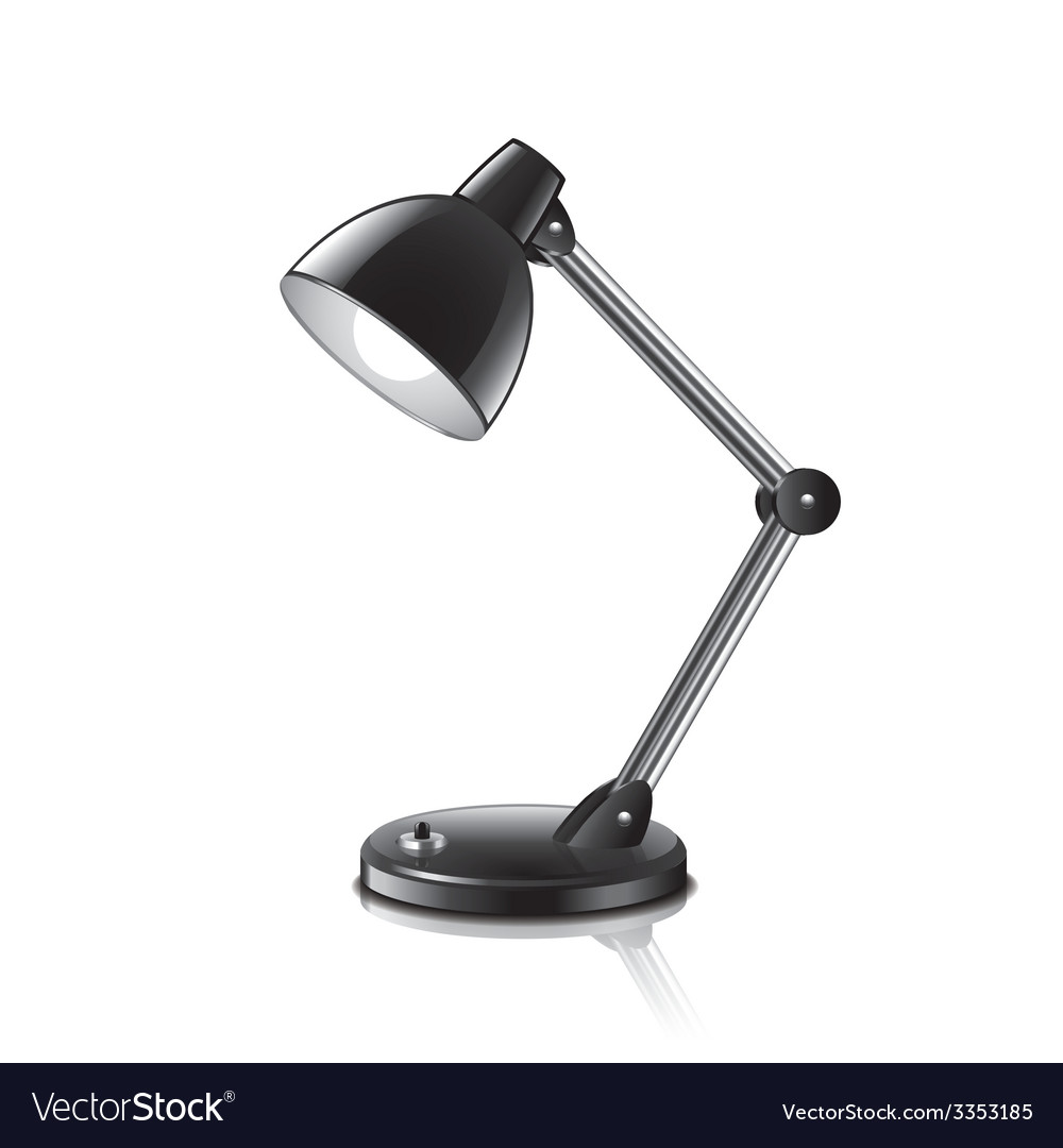 Desk lamp isolated vector | Price: 3 Credit (USD $3)