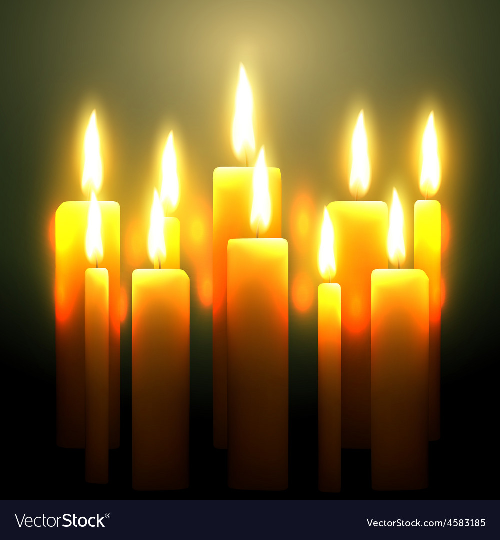 Glowing candle vector | Price: 1 Credit (USD $1)