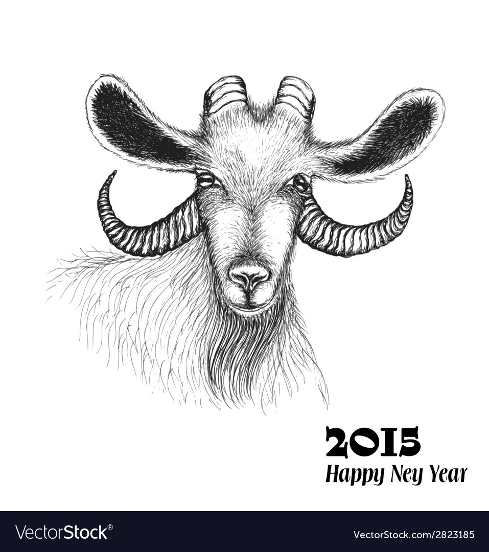 Goat symbol of 2015 new year vector | Price: 1 Credit (USD $1)