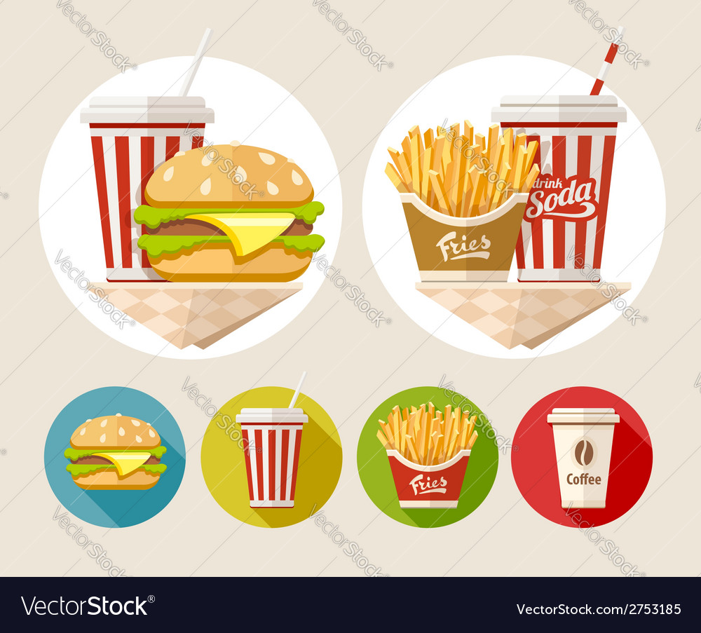 Hamburger french fries and vector | Price: 3 Credit (USD $3)
