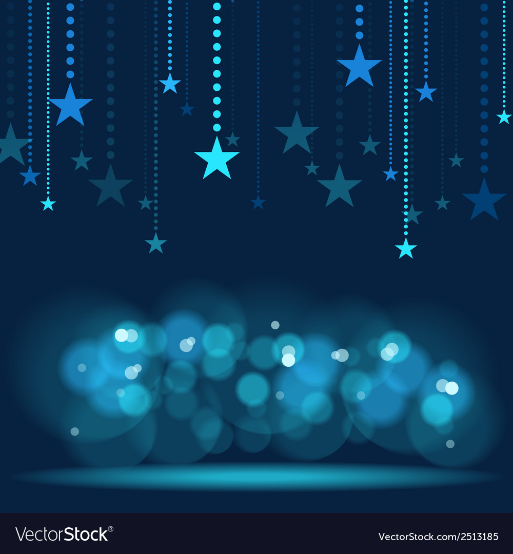 Hanging stars vector | Price: 1 Credit (USD $1)
