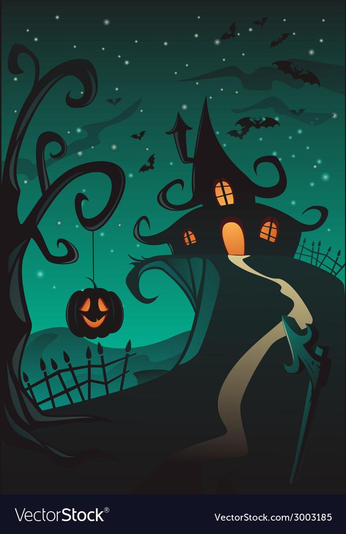 Happy halloween poster vector | Price: 3 Credit (USD $3)
