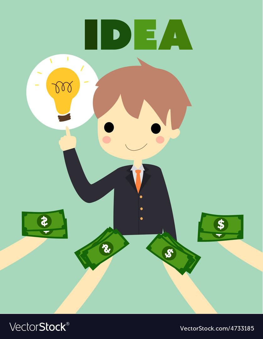 Idea business vector | Price: 1 Credit (USD $1)