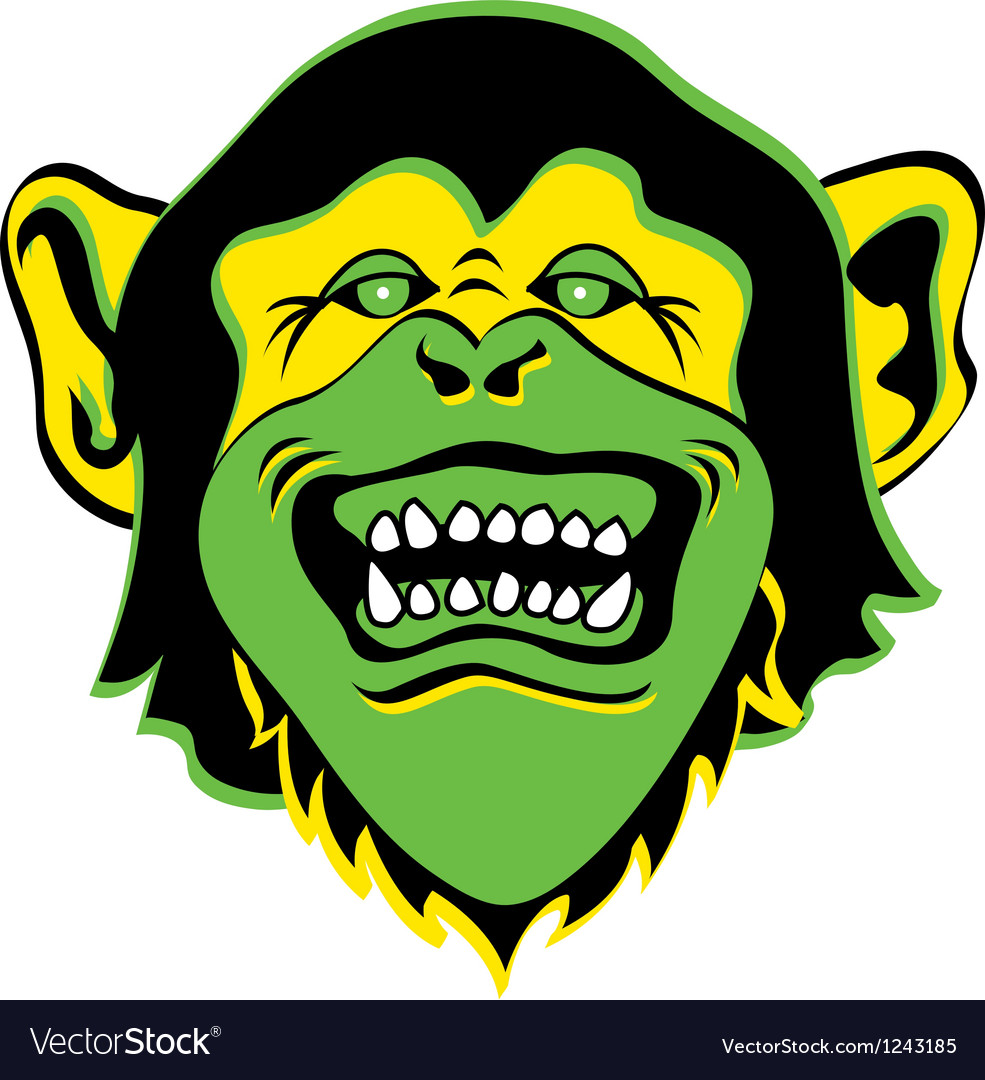 Monkey face logo vector | Price: 1 Credit (USD $1)