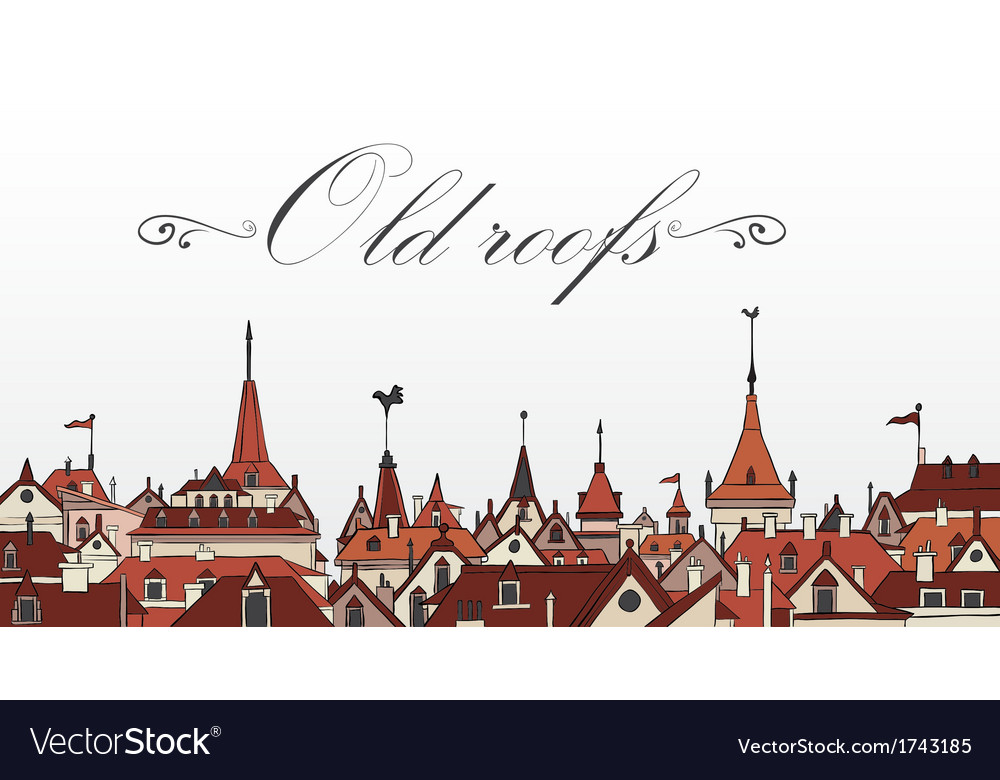 Old prague roofs colorful vector | Price: 1 Credit (USD $1)