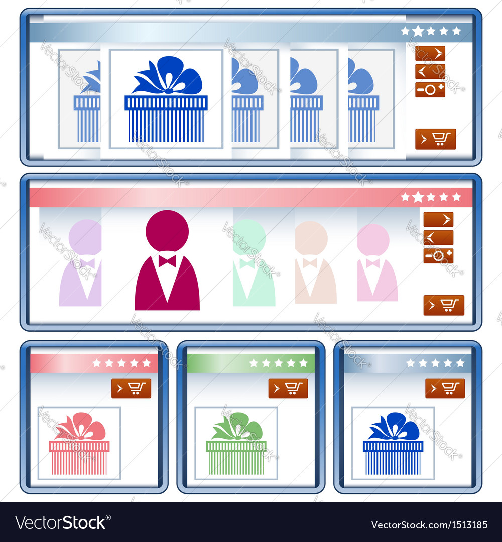 Online shopping interface vector | Price: 1 Credit (USD $1)