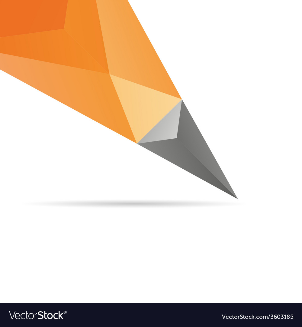 Pencil abstract isolated vector | Price: 1 Credit (USD $1)