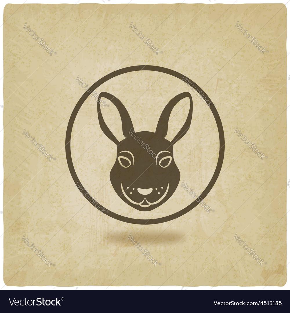 Rabbit head symbol vector | Price: 1 Credit (USD $1)