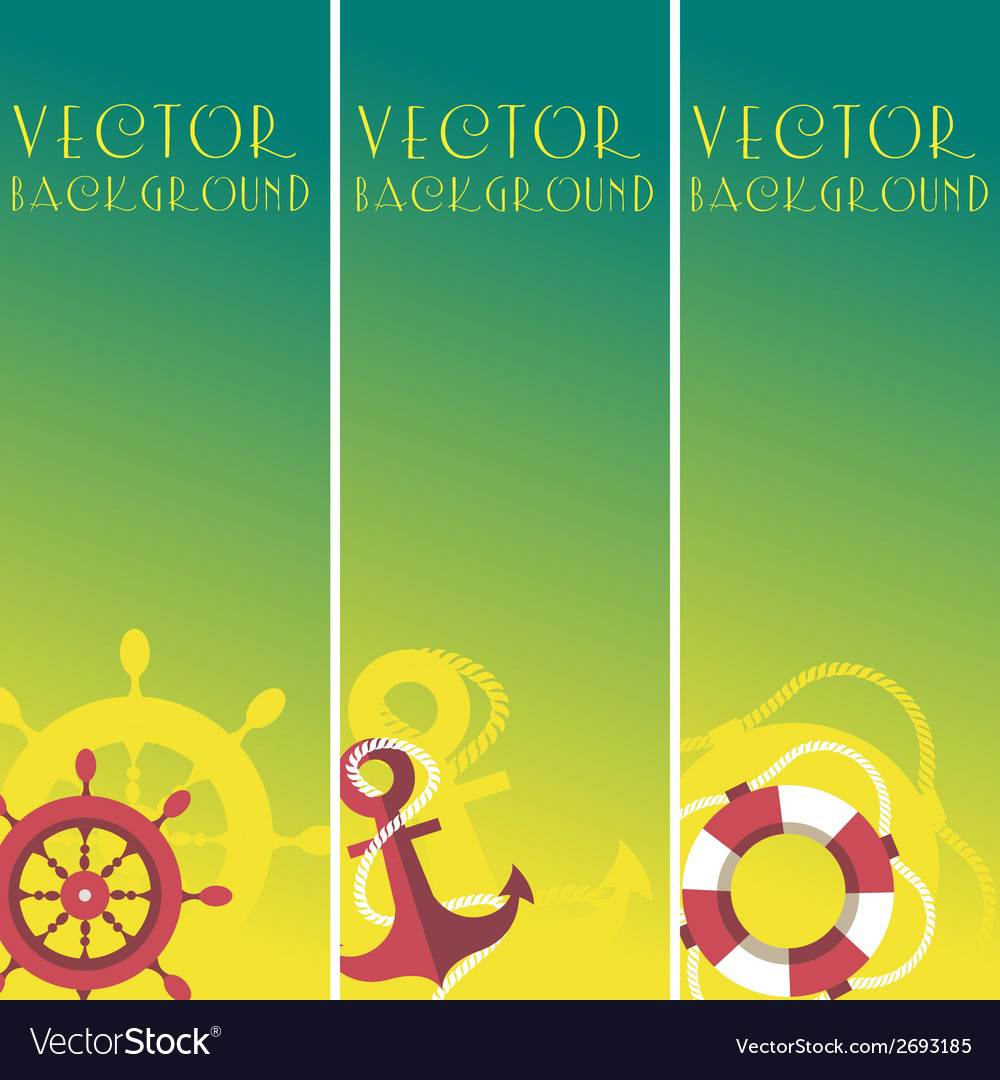 Vertical sea banner vector | Price: 1 Credit (USD $1)