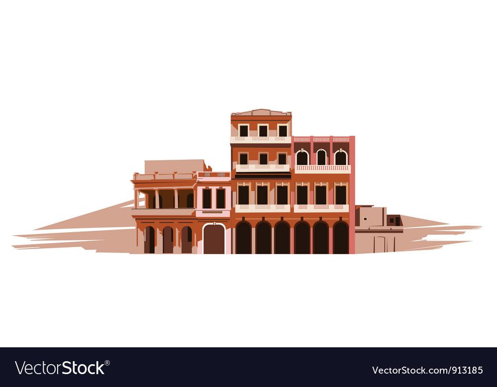 Villa in the desert vector | Price: 1 Credit (USD $1)