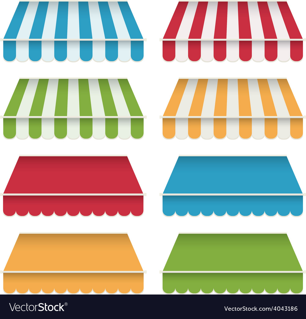 Awning canopies vector | Price: 1 Credit (USD $1)