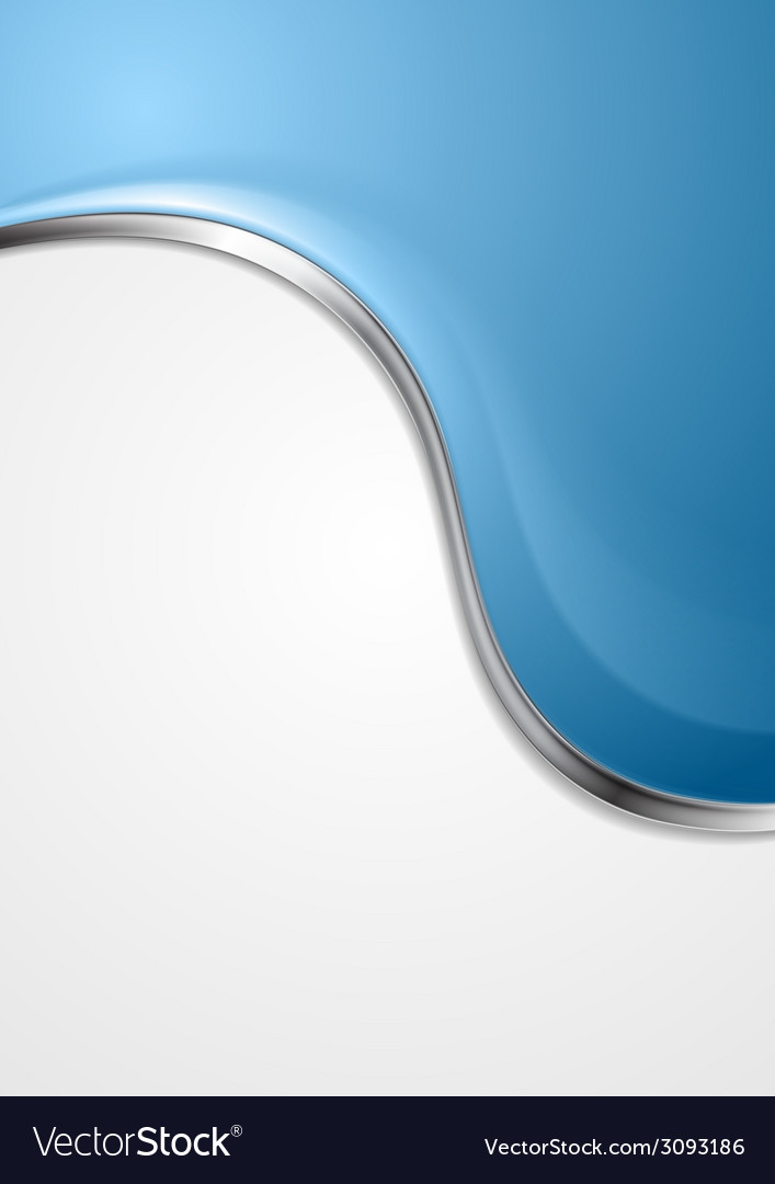 Blue abstract background with metal wave vector | Price: 1 Credit (USD $1)