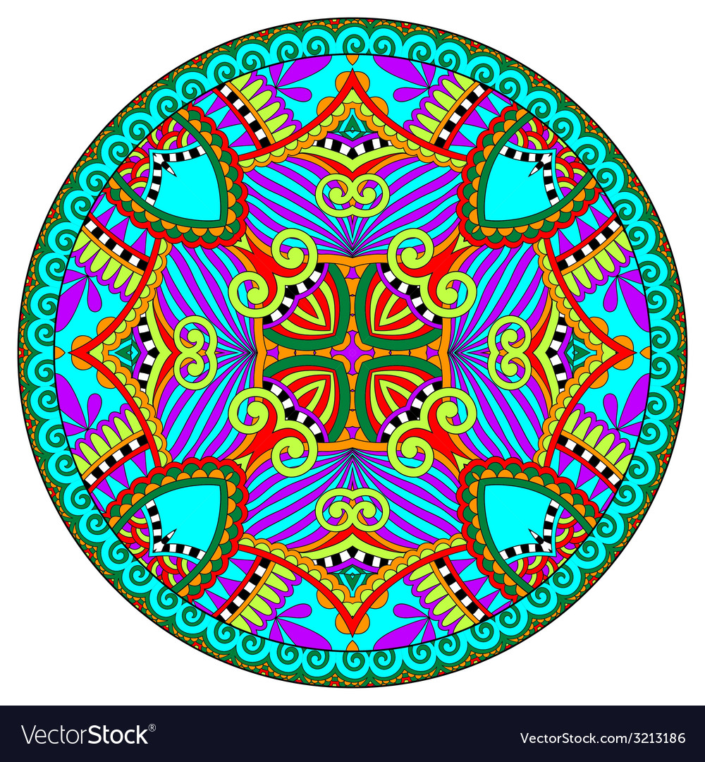 Decorative design of circle dish template vector | Price: 1 Credit (USD $1)