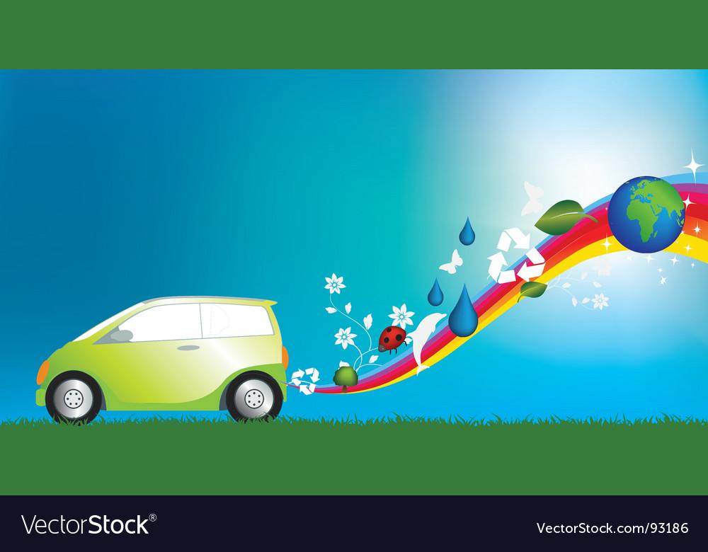 Eco friendly car vector | Price: 1 Credit (USD $1)