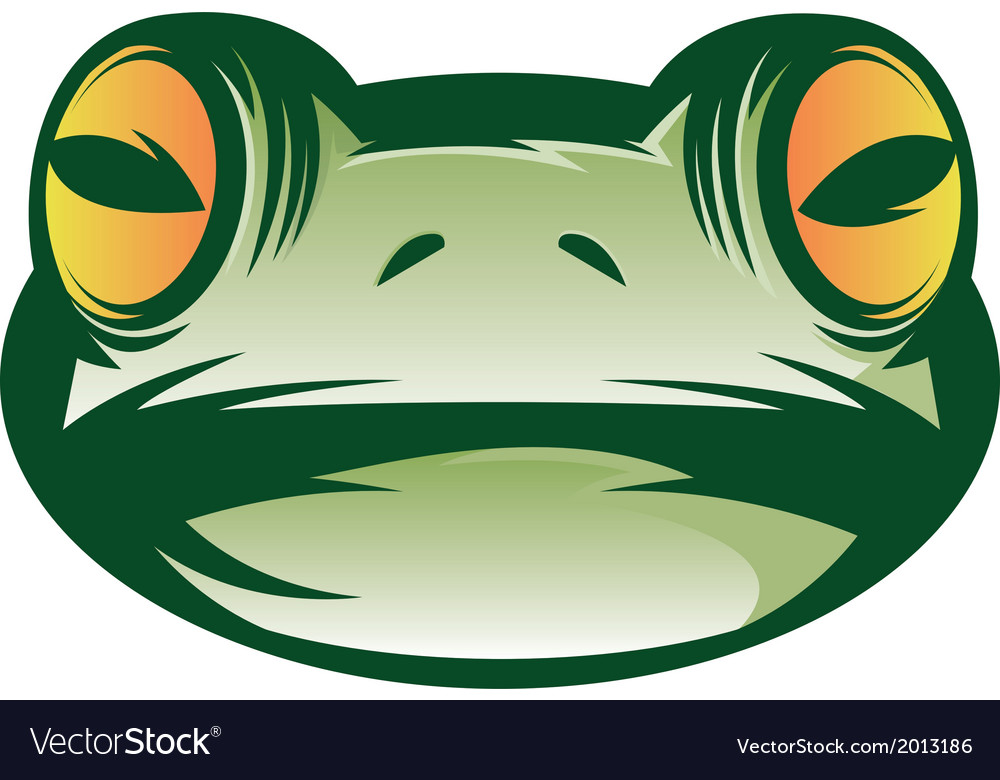 Frog face vector | Price: 1 Credit (USD $1)