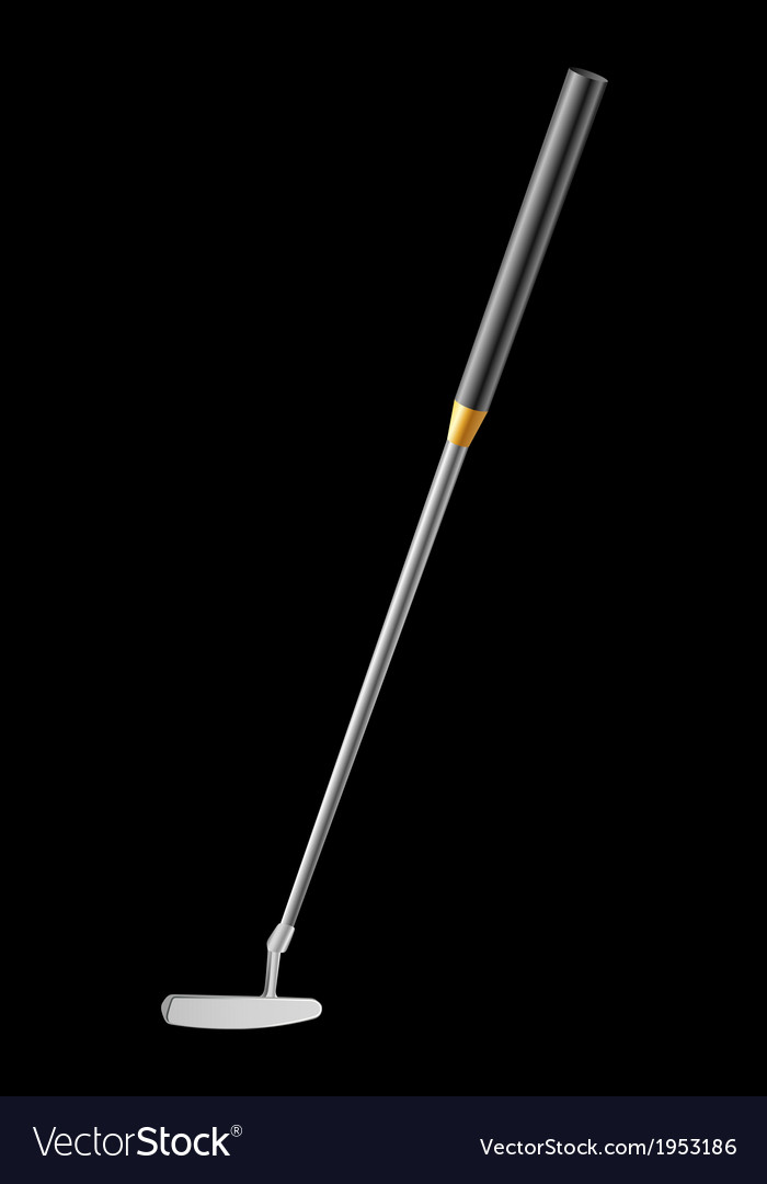 Golf club putter vector | Price: 1 Credit (USD $1)